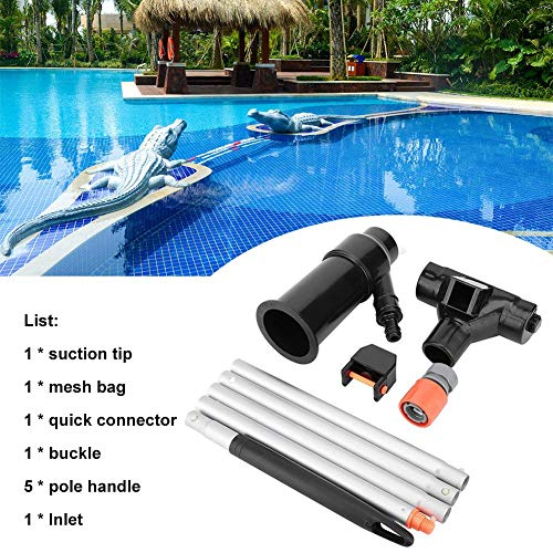 GreceYou 5 Pole Outdoor Portable Mini Jet Swimming Pool Vacuum Cleaner for Pool, SPA, Hot Tub, Jacuzzi, Fountain