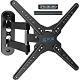 KDG TV Wall Mount for Most 28-80 Inch TVs, Full Motion TV Bracket with Articulating Arms Perfect Center Design TV Mounts Wall VESA 600x400mm Max Load 110 lbs, Single Stud (28-80)