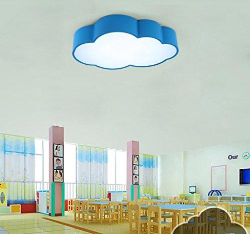 Lily's-uk Love Enfants Nuageux Plafond Bleu Simple Moderne Led Chambre Chambre Lumières Personnalité Créative Jardin d'enfants Lampes