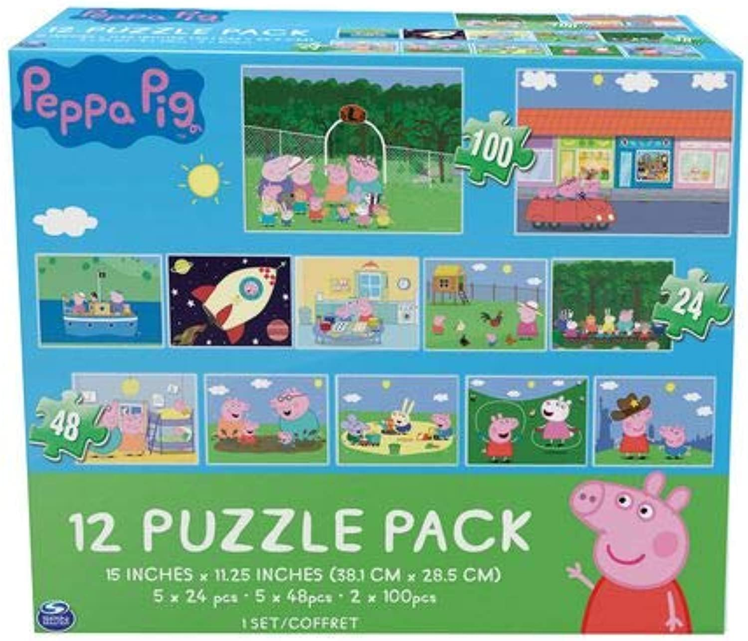 Peppa Pig Cardinal Games 12 Puzzle Pack