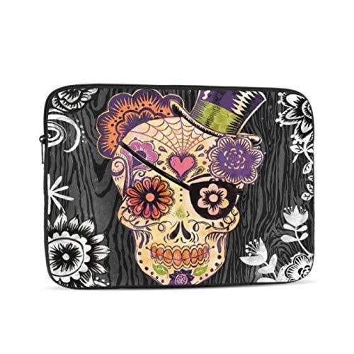 MacBook Pro 15 Accessories Portfolio Canvas Decor Sugar Skull Daisy by Geoff Laptop MacBook Pro Multi-Color & Size Choices10/12/13/15/17 Inch Computer Tablet Briefcase Carrying Bag