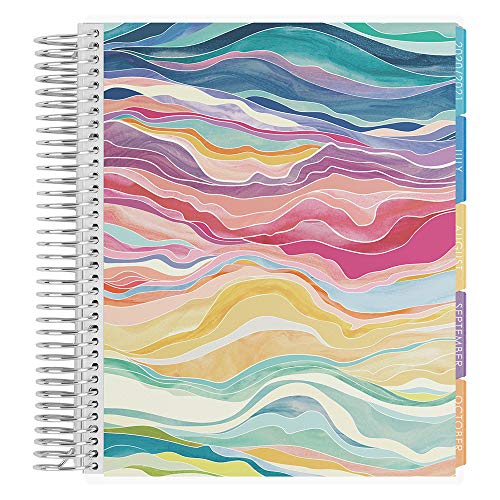 Erin Condren 18–Monate 2020–2021 Layers Colorful Spiral-Life Planer mit Layers Colorful Interior (Juli 2020 – Dezember 2021) Vertikales Wochen-Layout Organizer Monatskalender Tabs und Aufkleber