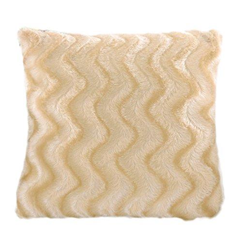 Demarkt–Fundas de Almohada Funda de cojín Decorativo sofá Almohada Almohada No Cojín Interior Color Rosa, Beige, 45 * 45cm