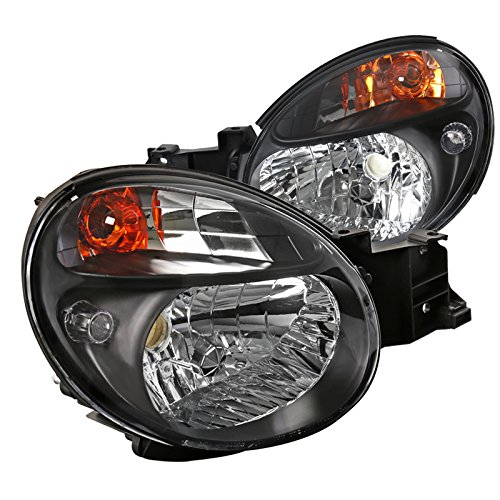 Spec-D Tuning Black Clear Headlights for 2002-2003 Subaru Impreza Wrx Outback Head Light Assembly Left + Right Pair