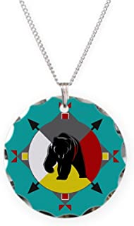 CafePress Cherokee Four Directions Bea Charm Necklace with Round Pendant