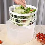 Ensalada Spinner Vegetales Lavadora Fruta Vegetal Tazón Plegable Ensalada Spinner con Tapa Secador Veggie Set para...