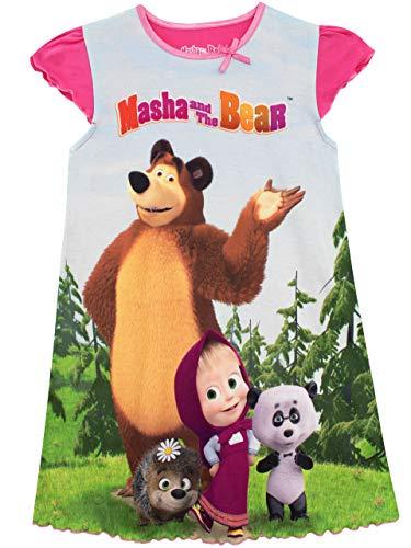 Masha and the Bear - Chemise de Nuit - Masha et Michka - Fille, Multicolore, 2-3 ans