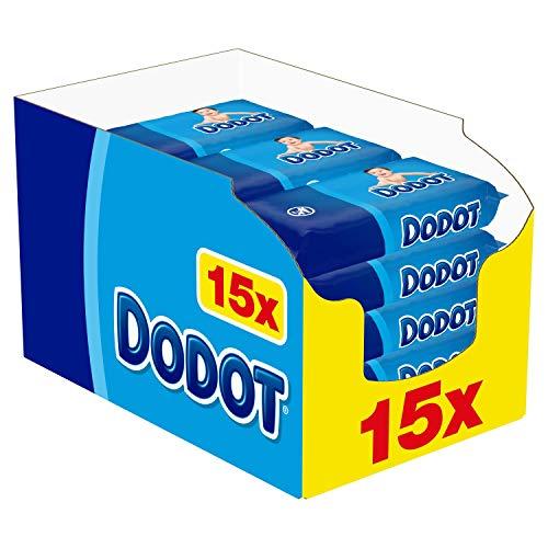 Dodot Toallitas para Bebé, 960 Toallitas, 15 Paquetes (15x64), Limpieza e Hidratación en Cada Pasada
