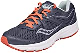 Saucony Women's Cohesion 11 Running Shoe, Grey/red, 7 Medium US