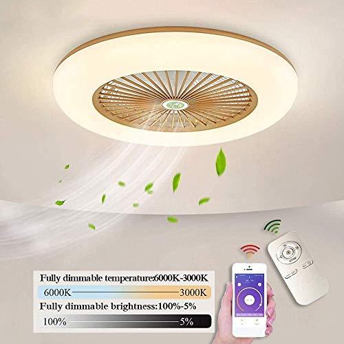 Plafondlicht Plafondventilator met Licht 36W LED met afstandsbediening, Modern Plafondventilator Lights Eetkamer Slaapkamer Woonkamer Lampen,Gold