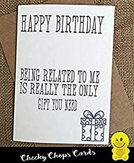 Cheeky Chops Rude Birthday Cards for Mum Dad Son Brother Sister - Humorous 30th 40th 50th Bday Cards Related - C389