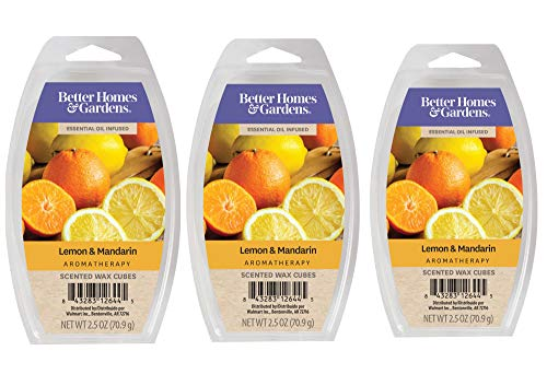 Better Homes & Gardens Aromatherapy Essential Oil Infused Wax Melts - 2.5 OZ - 3 Pack (Lemon & Mandarin)