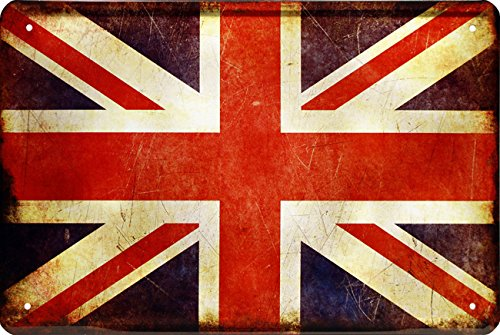 Landen vlaggen landen nationale vlag Groot-Brittannië 20x30 deco metalen bord 1431