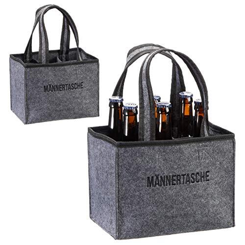 Flaschentasche Männertasche für 6 Flaschen/Bier Geschenk/Geschenke für Männer