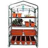 Worth Garden 102cm de Ancho Invernadero de 4 Niveles con Cubierta de Lona de PVC y Cremallera 160 x 102 x 49cm HxWxD Invernadero Transparente Casa de Tomate Casa de Plantas
