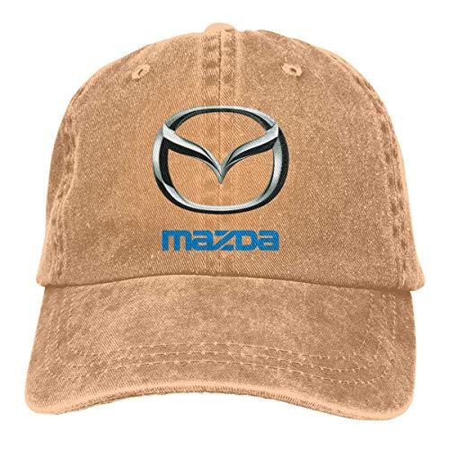eeer Personalized Printed Breathable Dad-Hat Mazda Logo Classic Baseball-Cap Hüte, Mützen & Caps