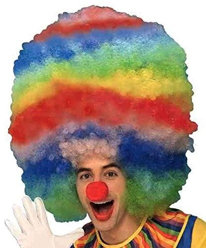 Forum Rainbow Stripped Giant Clown Wig