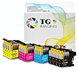 (16-Pack, 4XBCYM) TG imaging Compatible Ink Cartridge Replacement for Brother LC203 XL Color Bundle Used in MFC-J460DW MFC-J480DW MFC-J680DW MFC-J880DW MFC-J885DW MFC-J4320DW J5620DW J5720DW Printer