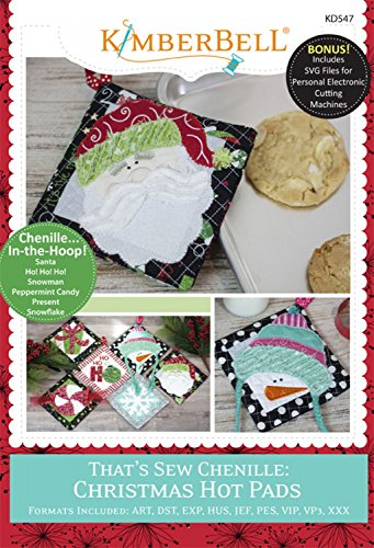 Great Features Of KIMBERBELL That's Sew Chenille CHRISTMAS Hot Pads Machine Embroidery CD KD547