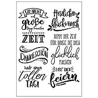 jokeWEN クリアスタンプ シリコンスタンプ ドイツのDIYシリコンクリアスタンプしがみつくシールスクラップブックエンボスアルバム装飾クラフト