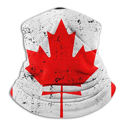 Outdoor Neck Gaiter Face Mask Canadian Flag Bandanas Balaclava Magic Scarf Versatile Headwear For Hiking Riding Running
