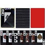 TX GIRL Juego De Tarjetas Impermeable Negro 2 Esmerilado Antideslizante De Plástico Naipes Texas Hold'em Poker Baccarat Juegos De Mesa - 1 Cubierta (Color : Black 555)