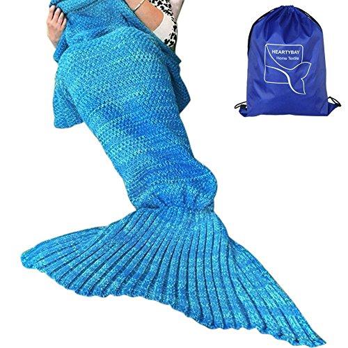 heartybay Crochet Mermaid Tail Blanket for Adult, Super Soft All Seasons Sleeping Mermaid Blanket...