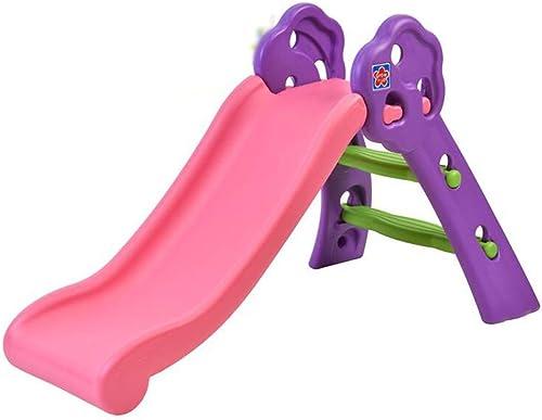 LLRDIAN Faltschlitten Kinder Outdoor Home Spielzeug R Us Indoor Größe Rutsche (Farbe   Rosa)