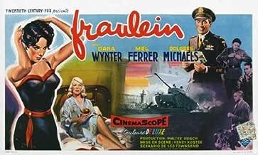 Fraulein Movie Poster (27 x 40 Inches - 69cm x 102cm) (1958) Belgian -(Dana Wynter)(Mel Ferrer)(Dolores Michaels)(Margaret Hayes)(Theodore Bikel)
