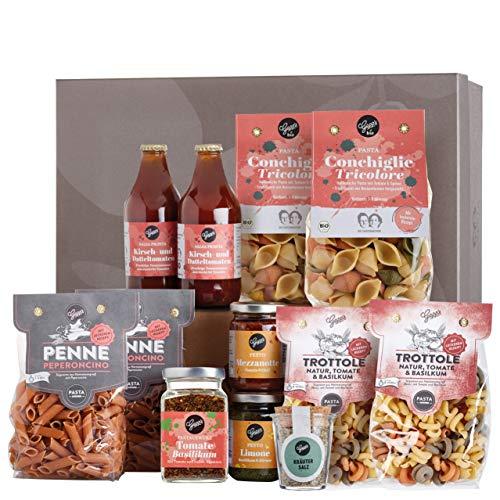 Gepp's Feinkost Pasta Paket Familie | Grundpaket mit leckeren italienischen Delikatessen, hergestellt nach eigener Rezeptur | Geschenk für echte Pastafreunde oder für den Familien-Vorrat (A0058)