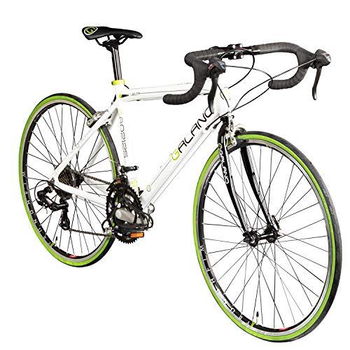 Galano Rennrad 26 Zoll Jugendrad Vuelta STI Jugendfahrrad 14 Gänge Fahrrad (weiß/grün, 44 cm)