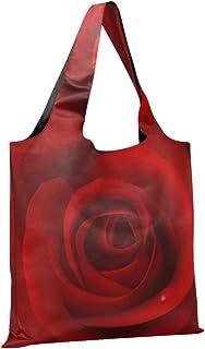 CaTaKu Sac de courses en nylon imperméable et respectueux de l'environnement Rose Rouge