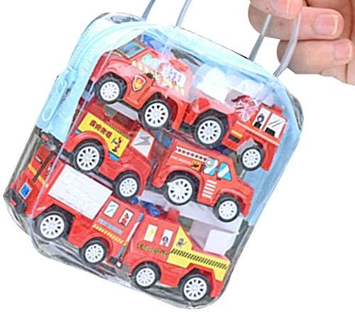 Aoyo Enfants Pull Back Car Toy Construction Set Modèle Camion de Pompiers Véhicule d'anniversaire de garçons Souvenirs (Color : 2, Size : 3.2 * 3.1 * 4.4cm)