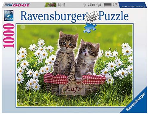 Ravensburger Puzzle 19480 - Picknick auf der Wiese - 1000 Teile Puzzle für Erwachsene und Kinder ab 14 Jahren, Puzzle mit Katzen-Motiv