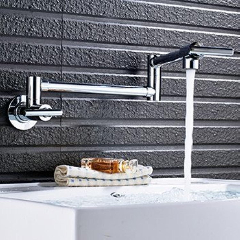 360 Grad schwenkbares Wasserhahn Messing Soild Waschbecken Wasserhahn Kaltwasser Dusche tippen, Chrom