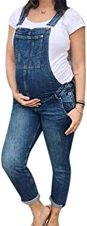 KEEPWO Maternity Overalls Maternity Fashion Denim Pregnancy Dungarees