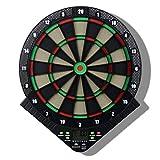 IG Máquina de Dartboard Electrónica Colgando Professional, Indicador de Puntuación Lcd Dart Game con 6Pcs Darts para Unisex Adult 18 Games Y 159 Opciones,Negro