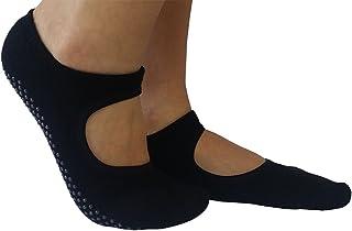Marchuusu, Calcetines de algodón Antideslizantes pequeños para Yoga y Pilates Dance Fitness para Mujer Talla S para EU 33-36