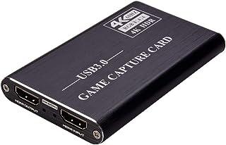HUIFANGBU NK-S41 USB 3.0 to HDMI 4K HD Video Capture Card Device (Black)(Grey)(Blue) (Color : Black)