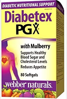 Webber Naturals Diabetex PGX Daily Ultra Matrix w/ Mulberry, 825mg, 80 softgels