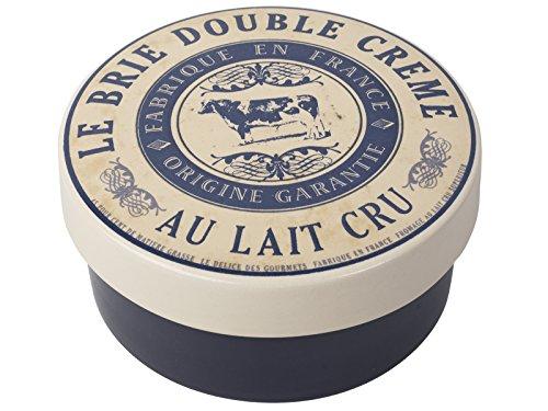 Steingutbeh?lter zum ?berbacken von K?se, Aufschrift 'Le Brie Double Creme', in Geschenkbox