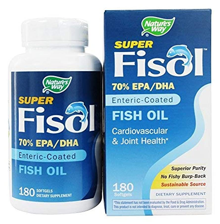 耐えられない回転させる尊厳海外直送品 Nature's Way Super Fisol, 180 Softgels