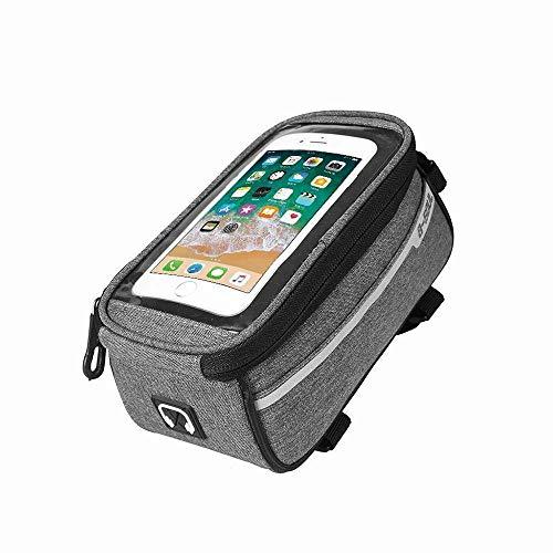 DANQI - Bolsa portabicicletas, soporte para teléfono móvil, con funda para teléfono...
