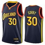 TIANYO Warriors Curry - Camiseta de baloncesto para hombre, 2021 temporada nueva bordada Jersey Tops, Cool Vesh tela transpirable chaleco de gimnasio regalos para fans negro-XL