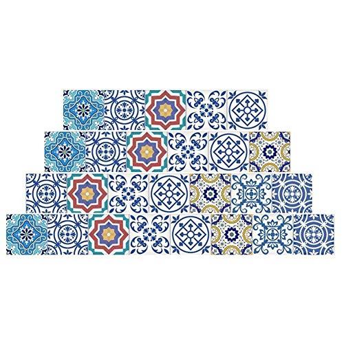 20x500cm Patrones de Azulejos de cerámica Etiqueta engomada autoadhesiva Impermeable 3D Piso Escalera Pared Sala de Estar Dormitorio Cocina Pegatina (Color : 2)