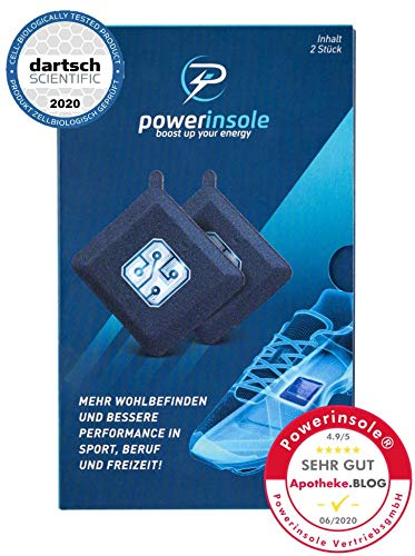 Powerinsole Smarte Einlegesohlen, High Tech Powerchip für Sport und Alltag, Bekannt aus der TV Show 2 Minuten 2 Millionen