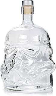 SMGPYCFYP Vodka Spirited Jug, Whiskey Borosilicate Glass Decanter, Star Wars Black Warrior White Soldier Bottle
