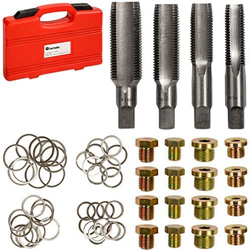 TecTake Kit de réparation pour Bouchon de vidange Bouchon du Carter d'huile filetages M13 M15 M17 M20