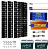 ECO-WORTHY 600W Solar Panel Kit Complete Solar Power System with Battery and Inverter for Home House Shed Farm RV Boat, 12 Volt...