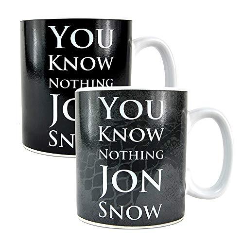 Tazza di cambio di calore Trono di Spade 400ml - Jon Snow